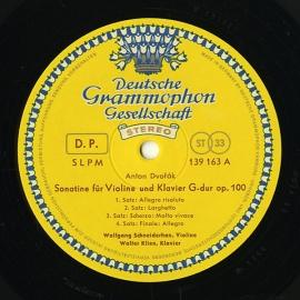 DE DGG SLPM139 163 ヴォルフガング・シュナイダーハ…