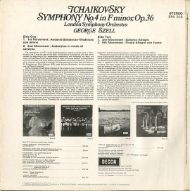 GB DEC SPA206 ジョージ・セル チャイコフスキー・交響曲…