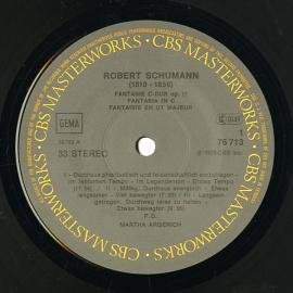 DE CBS 76713 マルタ・アルゲリッチ シューマン・幻想曲、…