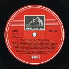 GB EMI ASD3258 イツァーク・パールマン クライスラー・…