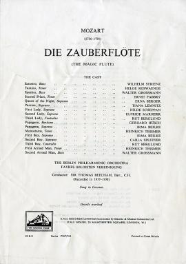 GB EMI ALP1273-5 トーマス・ビーチャム モーツァルト…