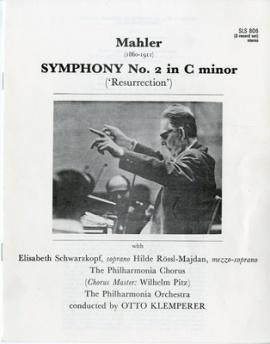 GB EMI SLS806 オットー・クレンペラー マーラー・交響曲…