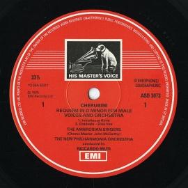 GB EMI ASD3073 リッカルド・ムーティ ケルビーニ「レク…