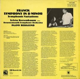 GB EMI ASD3308 ベルグルンド フランク「交響曲ニ短調」…