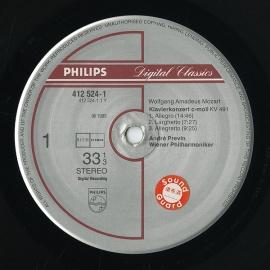 NL PHIL 412 524-1 プレヴィン モーツァルト「ピアノ…