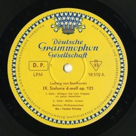 DE DGG LPM 18 512/13 フリッチャイ ベートーヴェ…