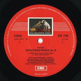 GB EMI SLS821 クレンペラー ブラームス「ドイツ・レクイ…