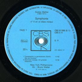 FR CBS E-4 ワルター マーラー・交響曲5番/9番/さすらう…