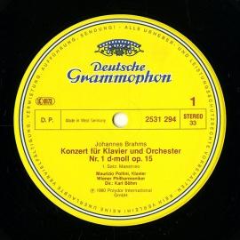 DE DGG 2531 294 ポリーニ&ベーム ブラームス・ピアノ…