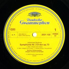 DE DGG 2531 132 カラヤン ブラームス・交響曲2番