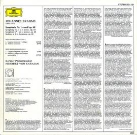 DE DGG 2531 131 カラヤン ブラームス・交響曲1番