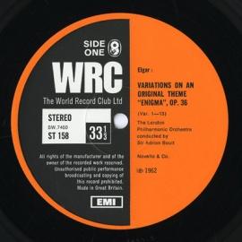 GB WRC ST158 ボールト エルガー・エニグマ変奏曲