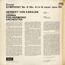 GB DEC SXL6169 カラヤン ドヴォルザーク・交響曲8番