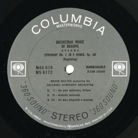 US COL M4S615 ワルター ブラームス・交響曲全集/ハイド…