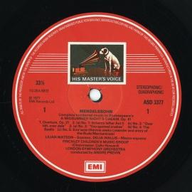 GB EMI ASD3377 プレヴィン  メンデルスゾーン「夏の夜…