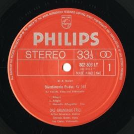 NL PHIL 802 803LY グリュミオー・トリオ モーツァル…