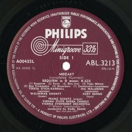 GB PHIL ABL3213 ベーム モーツァルト・レクイエム