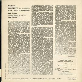 FR COL SAXF817 オイストラフ&クリュイタンス ベートー…
