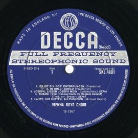 GB DEC SKL4891 ウィーン少年合唱団 クリスマスソング集