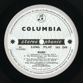 GB COL SAX2347-8 クレンペラー ワーグナー・管弦楽曲集