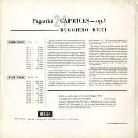 GB DEC SXL2194 ルッジェーロ・リッチ パガニーニ・24…