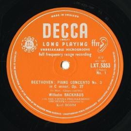 GB DEC LXT5353 バックハウス&ベーム ベートーヴェン・…