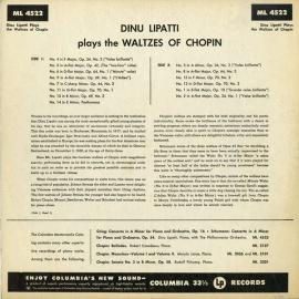US COL ML4522 ディヌ・リパッティ ショパン・ワルツ集