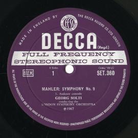 GB DEC SET360-1 ゲオルク・ショルティ マーラー・交響…