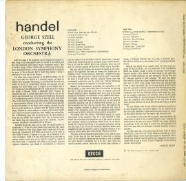 GB DEC SXL2302 セル ヘンデル 水上の音楽&王…