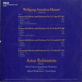 DE RCA 28 007 ルービンシュタイン モーツァルト・ピアノ…