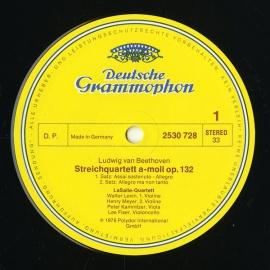 DE DGG 2530 728 ラサール弦楽四重奏団 ベートーヴェン…