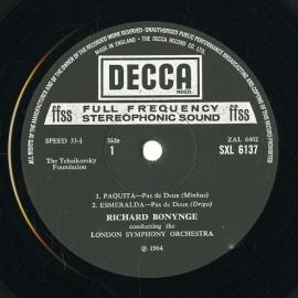 GB DEC SXL6137 ボニング パドドゥー・バレエ音楽集