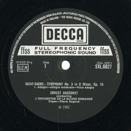 GB DEC SXL6027 アンセルメ サン=サーンス・交響曲3番…