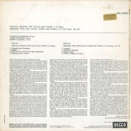 GB DEC SXL6408 アシュケナージ、パールマン&タックウェ…
