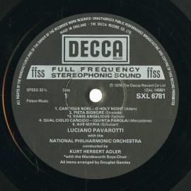 GB DEC SXL6781 パヴァロッティ 聖歌集