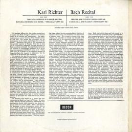GB DEC SXL2219 カール・リヒター バッハ・オルガン名曲選