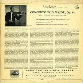 GB EMI ALP1437 ハイフェッツ&ミュンシュ ベートーヴェ…