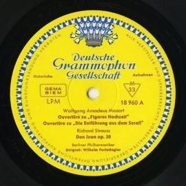 DE DGG LPM18 960 フルトヴェングラー モーツァルト&…