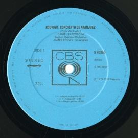 GB CBS 76369 ジョン・ウィリアムズ&バレンボイム ロドリ…