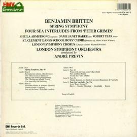 GB EMI ED2910471 プレヴィン ブリテン・春の交響曲