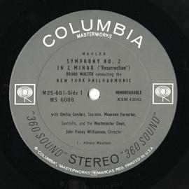 UC COL M2S 601 ワルター マーラー・交響曲2番「復活」