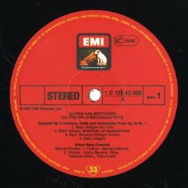 DE EMI SLS5217 アルバン・ベルクSQ ベートーヴェン・…