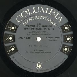 US COL ML4525 ディヌ・リパッティ グリーグ/シューマン…