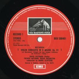 GB EMI SLS5004 オイストラフ ベートーヴェン/ブラーム…