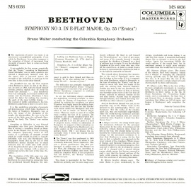US COL MS6036 ワルター・コロムビア響 ベートーヴェン …