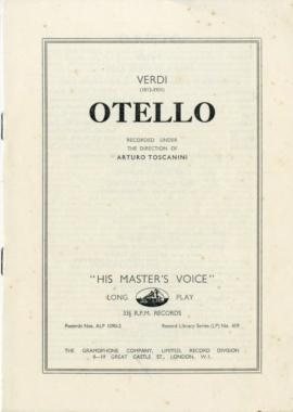 GB EMI ALP1090-2 トスカニーニ ヴェルディ・オテロ(…