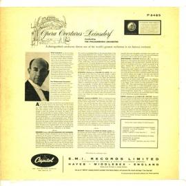 GB CAPITOL P8465 ラインスドルフ オペラ序曲集