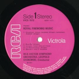 GB RCA VICS1513 ストコフスキー ヘンデル・王宮の花火…