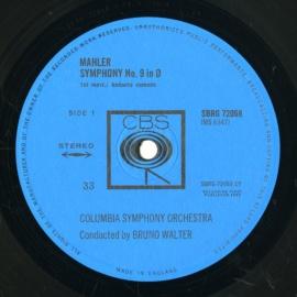 GB CBS SBRG72068-9 ワルター マーラー・交響曲9番
