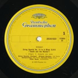 GB DGG 2530 533 メロスSQ. シューベルト・弦楽四重…